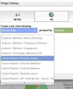 attach custom report dashboard widget