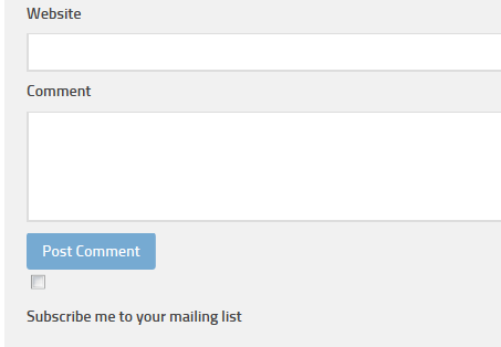 Provide a simple checkbox to offer visitors who leave a comment the opportunity to signup for your mailing list.