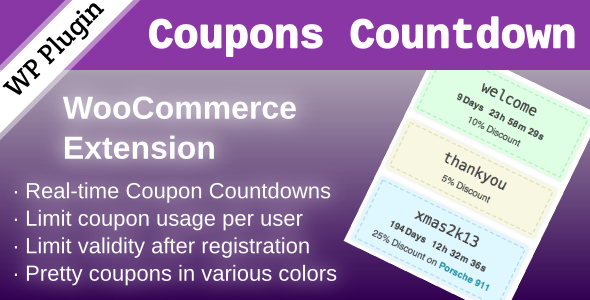 Coupons Countdown Woocommerce