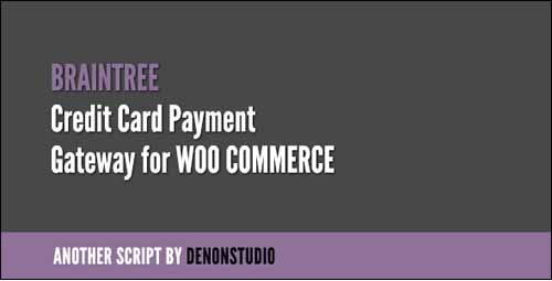 braintree credit card gateway for woocommerce