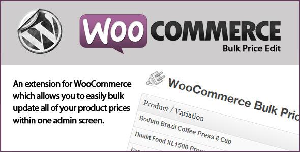 bulk price edit woocommerce