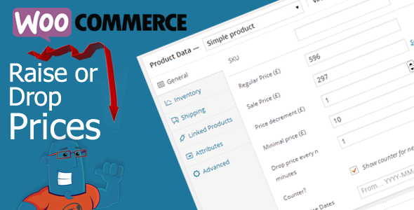 drop prices woocommerce