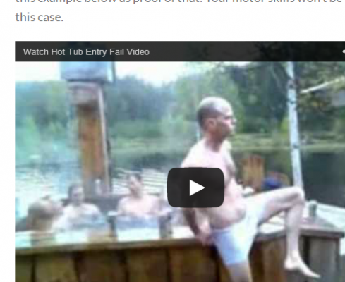 Epic fail  hot tub