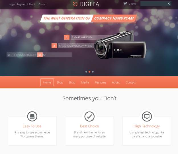Digita theme for wordpress