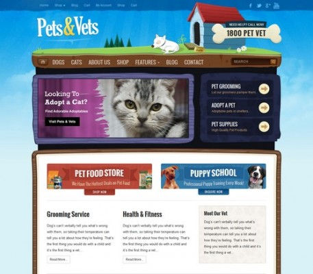 pets vets wordpress theme