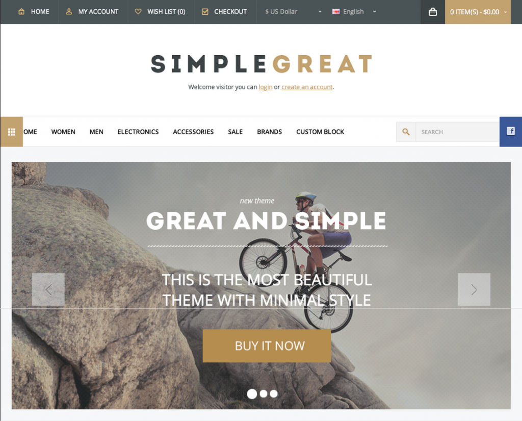 SimpleGreat   Premium WordPress WooCommerce theme   ThemeForest Previewer
