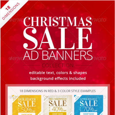 Christmas ad banners