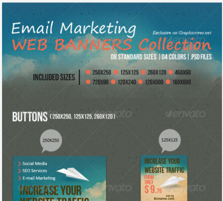 Web Elements   Email Marketing Web Banners Collection   GraphicRiver
