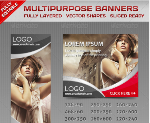 Web Elements   Multiporpose Glamorous Banners   GraphicRiver